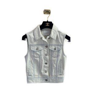 Aritzia Talula Atami Light Wash Jean Denim Vest